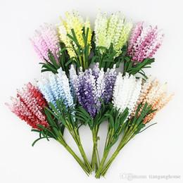 Grinalda multicolor on-line-Bouquet de flores de lavanda artificial, Multicolor espuma flores para decoração de Scrapbook de grinalda de casamento, 100 pçs / lote