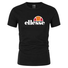 Ropa de calle online-Diseñador Moda Verano Camiseta de hombre Verano Camiseta de algodón Monopatín Hip Hop Calle Camiseta Deportes y ocio Ropa ELLESSE caliente