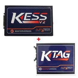 Programador online-2018 El más nuevo KESS V2 V4.036 Master Version OBD2 Manager Tuning Kit KTAG V6.070 ECU Chip Programmer Works para automóvil / camión / barco