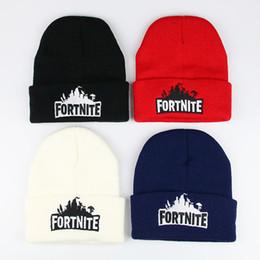 cappelli beanie bianchi per neonati Sconti Fortnite Hats 23 stili Fortnite Berretti Fortnite Battle Hat lavorato a maglia Hip Hop Ricamo a maglia Berretti Teenager Inverno caldo Skull Berretti