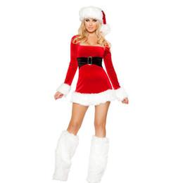 reizvolles weihnachtskostüm lange hülse Rabatt Sladuo Sexy Red Velvet Langarm Weihnachtsmann Kostüme Erwachsene Frauen Weihnachten Kostüm Kostüme Weihnachten Cosplay Party Kostüm