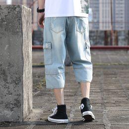 capri hosen männer mode Rabatt Frühling, Sommer, Shorts Große kühle Art und Weise beiläufige Capri-Hosen im koreanischen Stil Trend der neue Art-Shallow Herren-Jeans