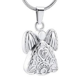 2020 jóias guardião Aço inoxidável Memorial Urn Jóias Ashes Titular da lembrança Pendant Guardian angel Colar Cremação Para Mulheres desconto jóias guardião