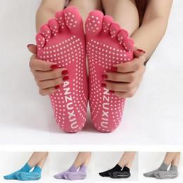 2019 meias caramelo Meias Mulheres Meias antiderrapantes Yoga Moda Meias Meias de Dança Dedo Dedo Dedo Dividido Cinco-dedo Meia 24 cor