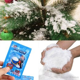 10 Packs Instant Snow Fluffy Science Absorbent Magic Prop Winter Party Decor ~~