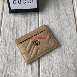 billige passbörsen Rabatt Berühmte hochwertige Männer Frauen klassische Mode v Welle Muster kleine Kupplung Geldbörse Kartenhalter Handtasche Sac à main