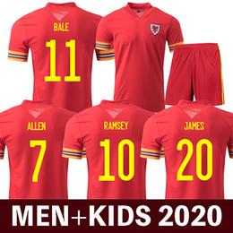 camisas de gales Desconto 2020 wales soccer jersey euro cup 2020 wales camisa de futebol BALE JAMES RAMSEY ALLEN