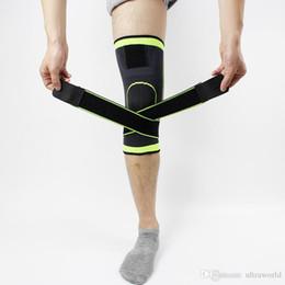 Canada 3D tissage pressurisation genouillère basket tennis tennis randonnée cyclisme soutien du genou professionnel protection sports genou pad pied protecteur Offre
