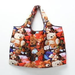 Shopping riutilizzabili Tote Bag Pelle di Tigre Design Pieghevole