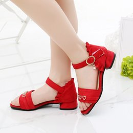 2020 filles coréennes à la mode talons Girls sandals summer 2020 new fashion little girl Korean high-heeled princess shoes in the big KID non-slip Roman shoes 1-16t promotion filles coréennes à la mode talons