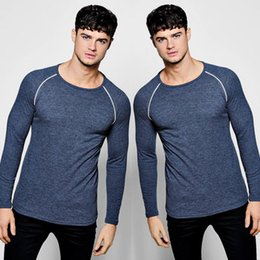 koreanische männer mode t shirt Rabatt Hot 2018 neue Frühlings-Mode Marke O-Ansatz Slim Fit Langarm-T-Shirt Männer Trend beiläufiges Mens-T-Shirt Korean-T-Shirts