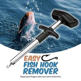 2019 anzóis de titânio Hot Fácil Fish Hook Removedor Nova Ferramenta de Pesca Ferramentas de Ferimentos de Minimização Ganchos de Peixe T-tipo Portátil Leve Ferramentas De Pesca Acessórios M9Y