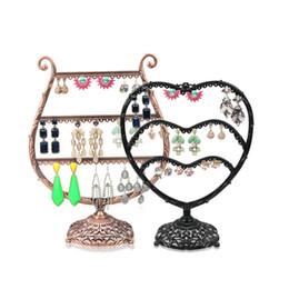Fer forgé en forme de coeur forme de bijoux cadre créatif bijoux stand boucles d'oreilles présentoir boucles d'oreilles support rack de stockage ? partir de fabricateur