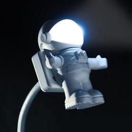 luz de noche astronauta Rebajas Mini lámpara de lectura tubo USB para computadora portátil PC portátil blanco puro portátil astronauta LED luz de la noche ajustable