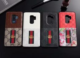 Couverture de serpent en cuir en Ligne-Cas de téléphone de luxe pour Samsung S10 S9 S8 plus Note8 9 en cuir Bee Snake Pattern Print Designer couverture pour iPhone X Xs Max 7 7P 8 Plus 6