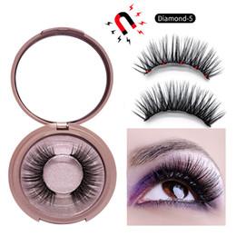 occhi azzurri falsi ciglia Sconti Magnetic Liquid Eyeliner Kit ciglia finte con pinzette 5 magneti ciglia Set naturale 3 set Ciglia finte Set Colla Make Up Tools