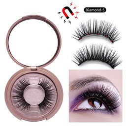 Canada Magnetic Eyeliner Liquid False Eyeliner Kit avec Tweezer 5 aimants cils Natural Set 3 ensembles False Eyelashes Set colle sans outils de maquillage Offre