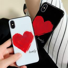 корпус телефона в форме сердца Скидка Горячий Чехол для телефона в форме сердца для iPhone 6 6s 7 8 Plus X Xs Max Ультра тонкие мягкие ТПУ задние чехлы для телефона Protector