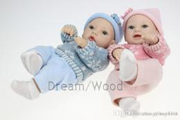 mini bambola piena del silicone del bambino Sconti 28cm di simulazione mini bambola fatta a mano in silicone pieno reborn baby doll regali di festa