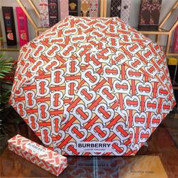 Ombrelli stampati online-BBL Letter Print Parasol Fashion Design intrecciato modello di ombrello ombrello scatola regalo creativo con logo popolare