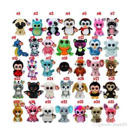 brinquedo azul do unicórnio Desconto 2019 35 Projeto de Ty Beanie Boos Plush Toys Stuffed 15 centímetros Atacado Olhos Grandes Animais Macio Dolls para aniversário dos miúdos brinquedos presentes ty