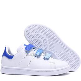 Nuevos niños mith niños zapatos casuales entre padres e hijos Para bebé niña moda stan sneaker blanco multi correr zapato de entrenador al aire libre 22-35 desde fabricantes