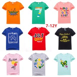 a7b6ff97 Cheap Wholesale Big Children Boys Girls clothing T shirts Tees Cartoon  Print Short sleeve Cotton Casual Tops 2019 Summer DHL Wholesale