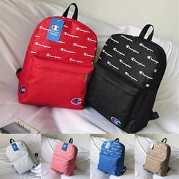 apfel a1278 macbook Rabatt Champions rucksack frauen männer mode umhängetasche brief drucken reise schultaschen laptop ipad rucksäcke reißverschluss rucksack 6 farbe c3275