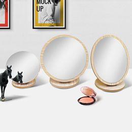 2019 ups de escritorio 10 Tamaño De Madera Mesa de Escritorio Maquillaje Espejo Cosmético Niñas Vestir Espejos Maquillaje Herramientas de Belleza ups de escritorio baratos