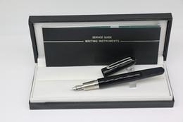 fontes papel de carta Desconto Edição limitada M Series fosco preto Fountain pen com tampa magnética Stationery office material escolar com MB Marcas escrever caneta