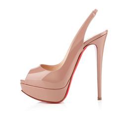 Estilos de sapatos europeus para mulheres on-line-2019 verão sereias moda boca de salto alto de pele de carneiro sandálias de salto alto europeus e americanos estrelas estilo pé sapatos femininos