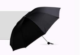 Canada vente en gros créatif trois fois dix os parapluie pluie soleil parapluie homme augmenter parapluie pliant Offre