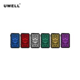 Uwell Coroa 4 / IV 200 W TC BOX Mod Elegante Placa de Circuito Compacto Design Alimentado por Dual 18650 à prova de Vazamento 510 Conector 100% Genuíno de Fornecedores de preto melhor mod vape