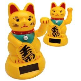 Dekoration vermögen online-Autokatzendekoration Innenzubehör Cute Welcoming Fortune Symbol Figur Paw-waving Fortune Cats Autodekoration