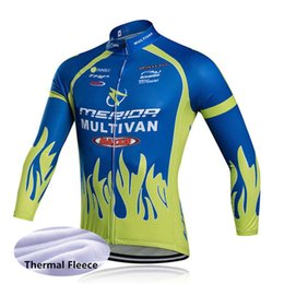 2019 ciclismo top merida 2019 Jersey de ciclismo MERIDA team men top Chaqueta Winter Thermal Fleece wear bicicleta Ropa de bicicleta 61403 ciclismo top merida baratos
