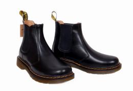 Canada 2019 Bottes pour hommes en cuir Martens d'hiver pour hommes, chaussures chaudes, moto, chaussures pour hommes et femmes Doc Martins, automne et baskets pour hommes -49 Offre