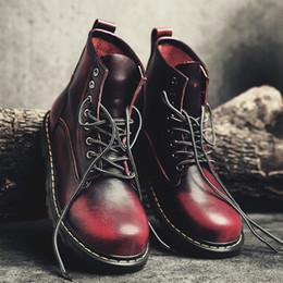 Scarpe skateboard invernali online-Uomo 2019 Stivali British Martins Vintage Punk Genuine Martin Inverno Scarpe calde per Martins Scarpe da skateboard Desert Boots Uomo