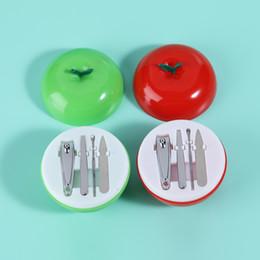 Яблочный маникюр онлайн-Профессиональная упаковка apple 4шт маникюрный набор для ногтей Набор для ухода за ногтями педикюр ножницы пинцет нож уха выбрать маникюрный набор инструменты