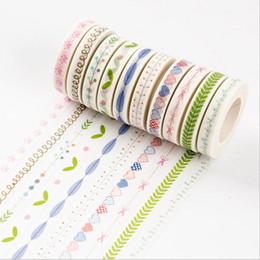 10M Bricolage Fleur Herbe Washi Lovely Tape coeur adhésif autocollant Masking bande pour le scrapbooking décoration Kawaii Cartoon autocollants ? partir de fabricateur