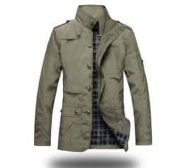 Mens giacca 2019 uomini nuovi arrivo top colore naturale uomini giacca a vento giacca da uomo giacche collare plus size m-5xl da pizzi fluorescenti fornitori