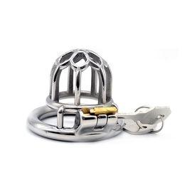 Diseños de cinturones bdsm online-Nuevo diseño de jaula de metal dispositivos de castidad masculina Adult Cock Cage BDSM juguetes sexuales Bondage cinturón de castidad