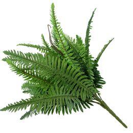 2020 piante grandi foglie Artificiale Boston Felce verde erba 30 Big persiani foglie di falsi parete pianta appesa plastica Foglia Bonsai casa decorazione del giardino sconti piante grandi foglie
