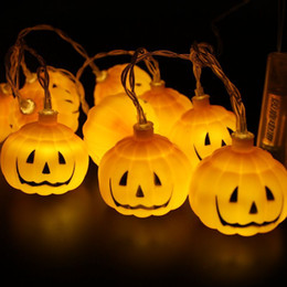 luci della stringa della zucca di halloween Sconti 1.5M / 3M Zucca di Halloween Led String Lights Festa di Halloween Festa di Natale Decorazione del giardino Lanterne Light JK1909