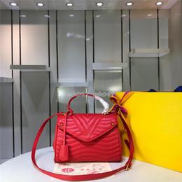 2019 bolsas de cor preta 019 Moda New Ladies 4 cor saco de couro genuíno das mulheres Designer de bolsa de ombro preto Messenger Bag M53931 bolsas de cor preta barato