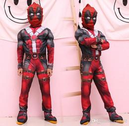 2019 masque spiderman iron man Les ensembles de vêtements d'enfants Muscle enfants Cosplay portent des ensembles sympas pour les enfants portent le festival Costumes d'usure