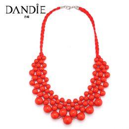 2019 modische halskettenperlen Dandie-moderne Halskette mit Acrylperle, eleganter Webart-Borten-Perlen-Halsketten-Schmuck für Frauen rabatt modische halskettenperlen