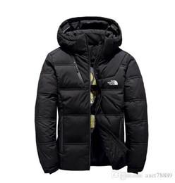 Sombreros de ganso abajo online-El nuevo invierno de los hombres del Norte chaquetas Parka cálidos abrigos de plumas de ganso Soft Shell Sombreros cara gruesa ropa de abrigo al aire libre de las chaquetas de la ropa masculina