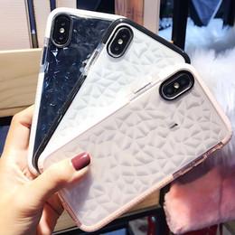 Custodia in silicone trasparente con diamanti per iPhone 6 6s 7 8 plus Cover per iPhone X XR cheap iphone silicone covers diamond da iphone silicone copre diamanti fornitori