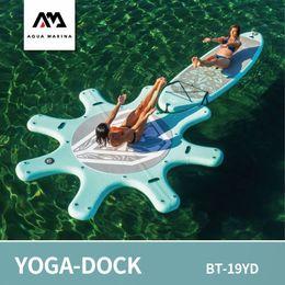 оборудование клуба Скидка AQUA MARINA dock for yoga board 290cm DHYANA yoga surfboard SUP stand up paddle board surf water club excercise equipment