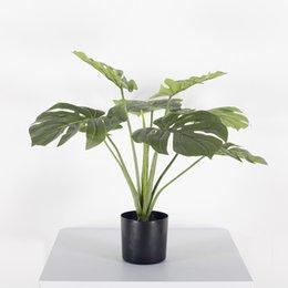 Las plantas artificiales Simulación Monstera nórdica estilo artificial Pote de Plantas Adornos Monstera falso Planta Plantas Greening Oficina desde fabricantes